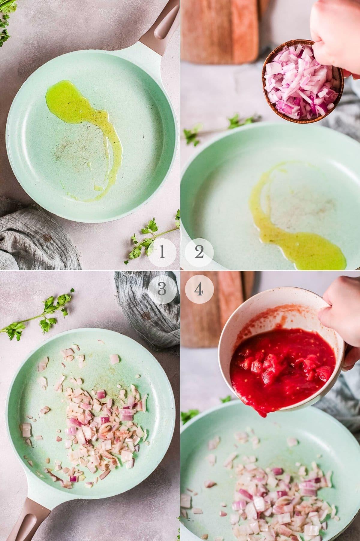 chana masala recipe steps 1-4