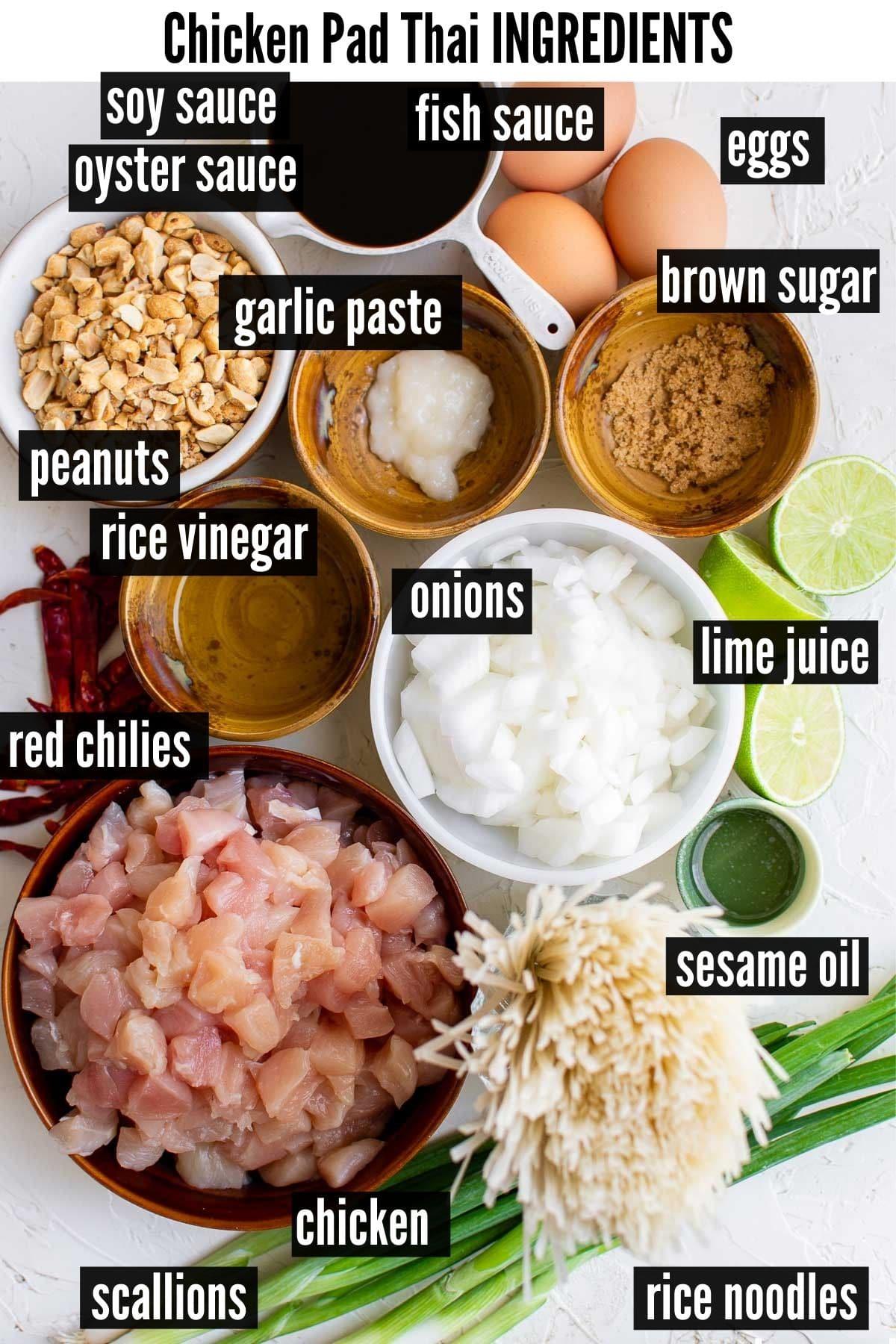 chicken pad thai ingredients