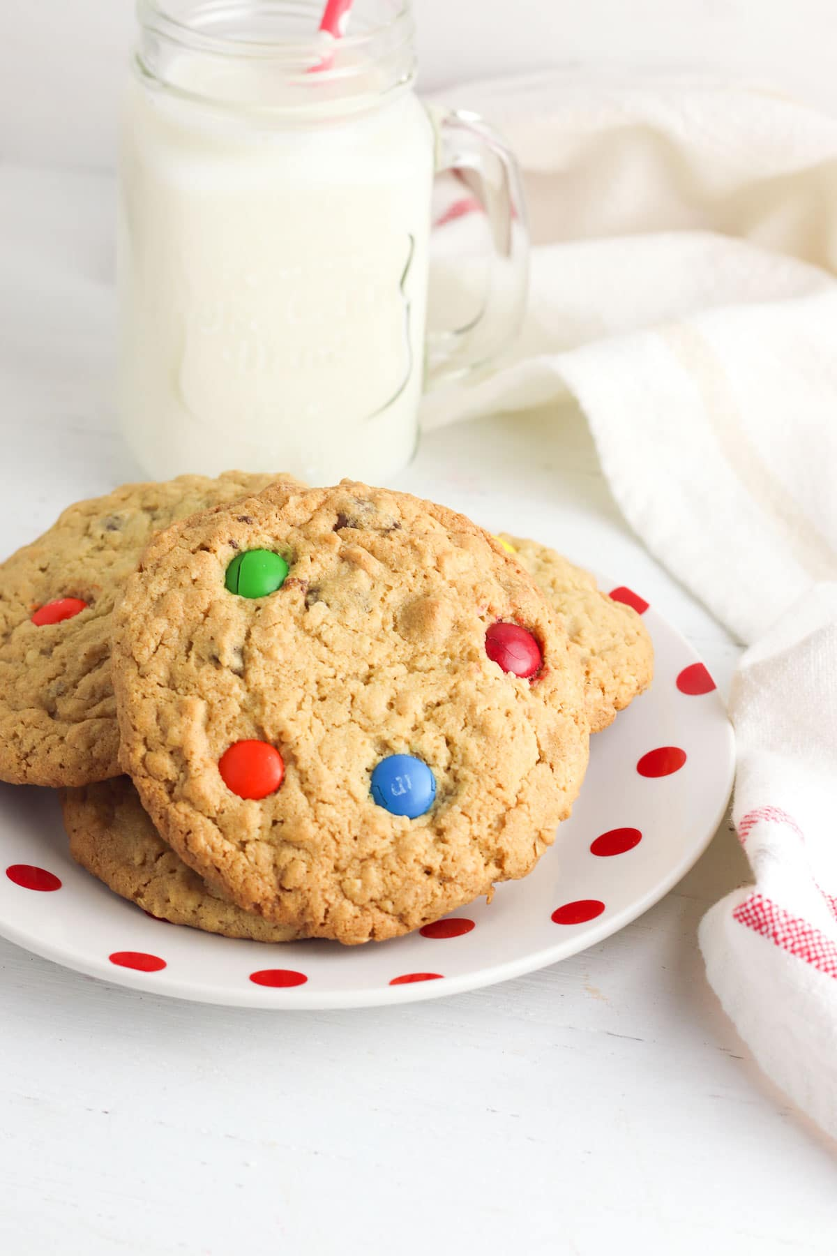 peanut butter chocolate chip cookies on plate