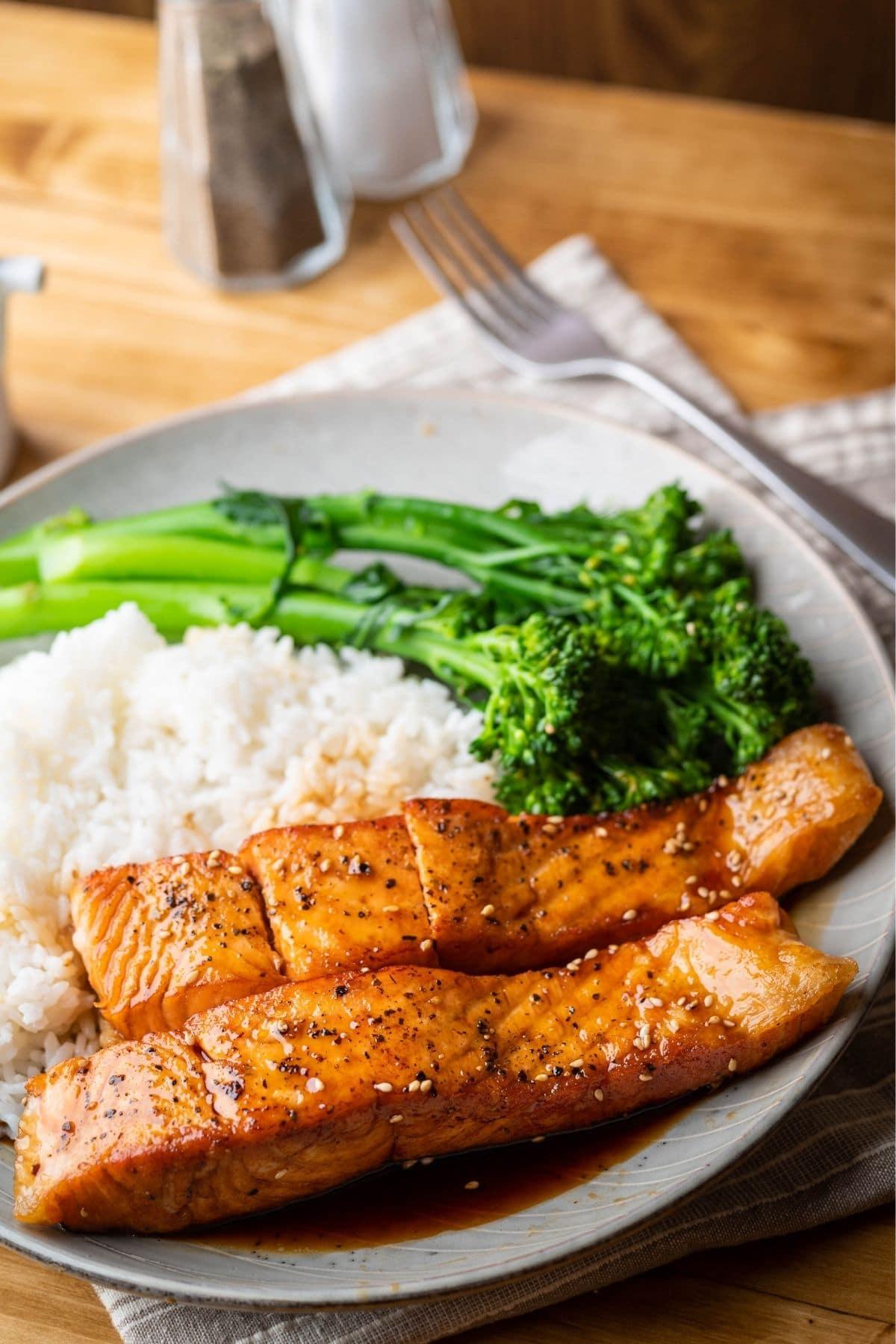 teriyaki salmon dinner