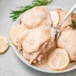 Rosemary chicken in a bowl