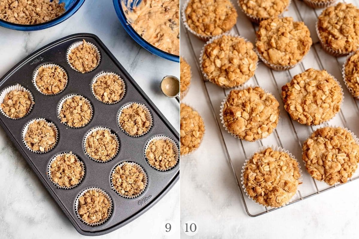 carrot cake muffins recipe steps 9-10