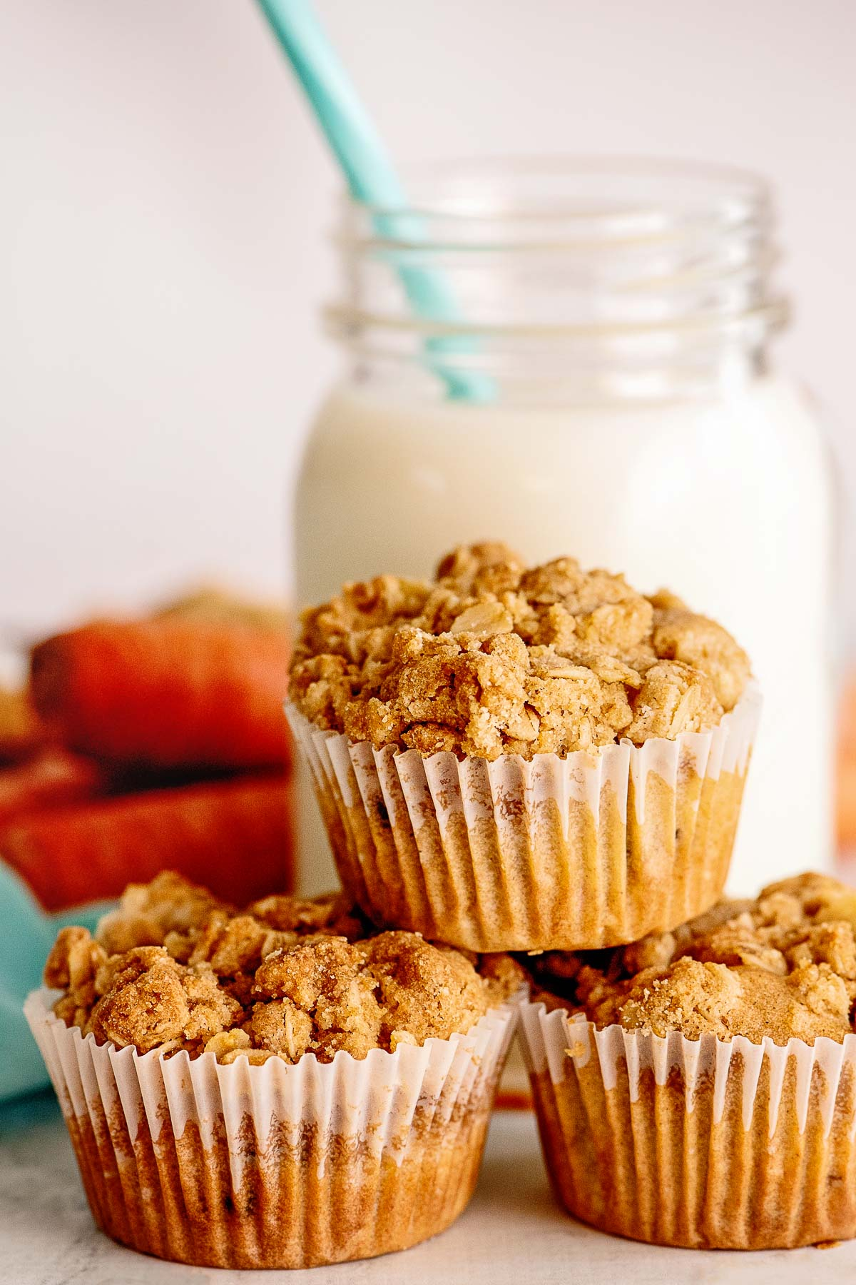 carrot cake muffins with milk
