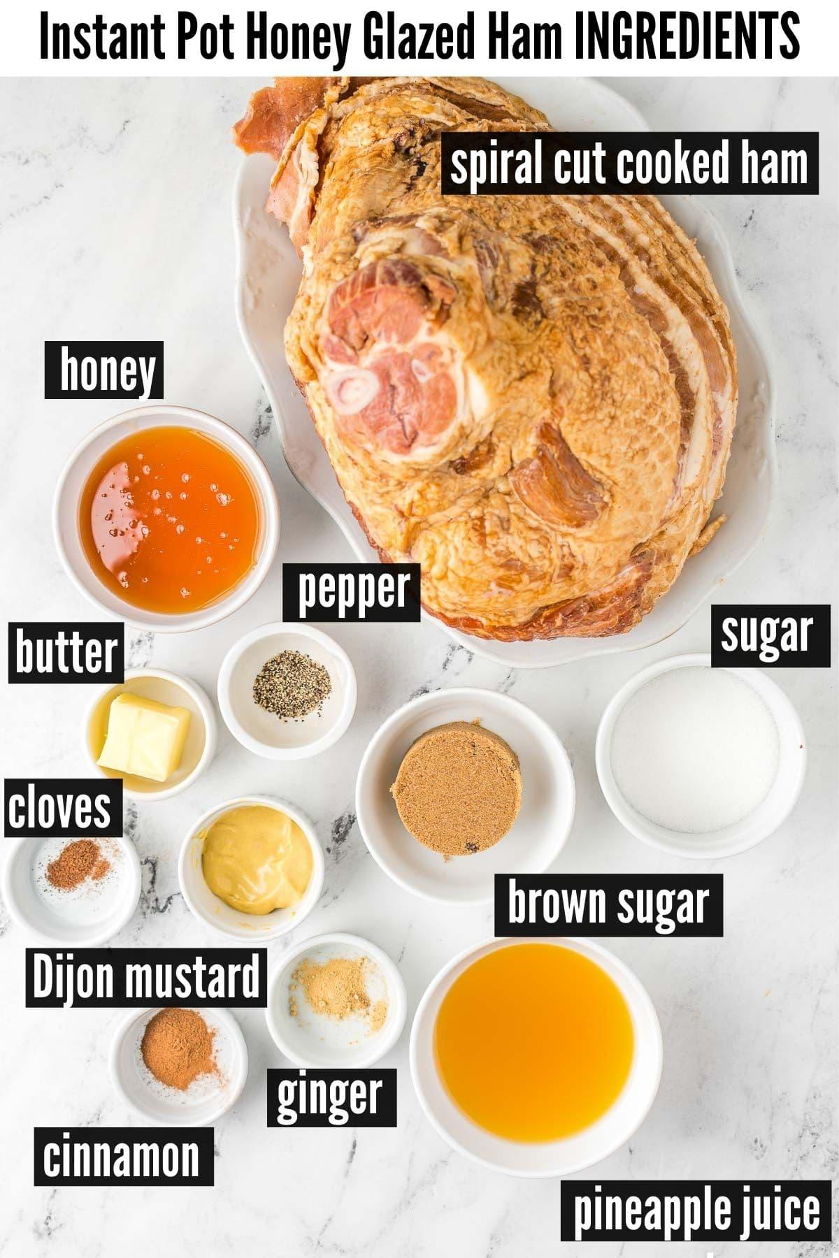 instant pot ham ingredients