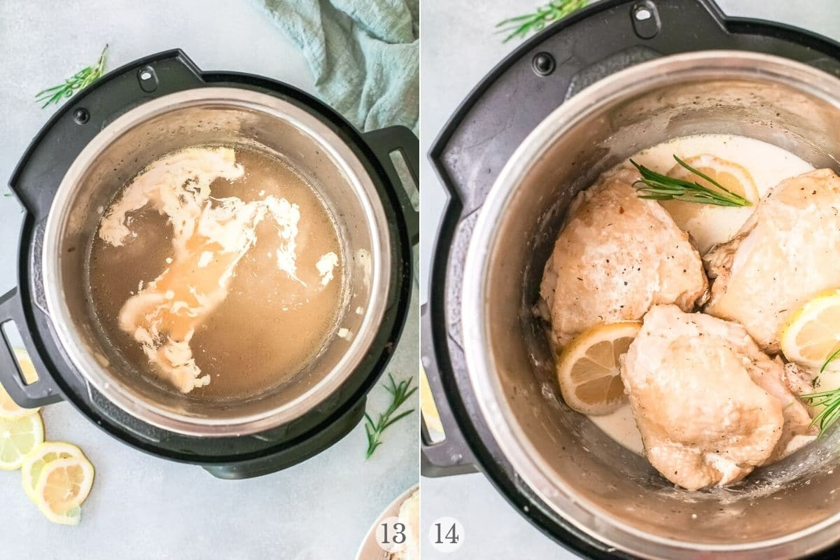 instant pot rosemary chicken recipe steps 13-14