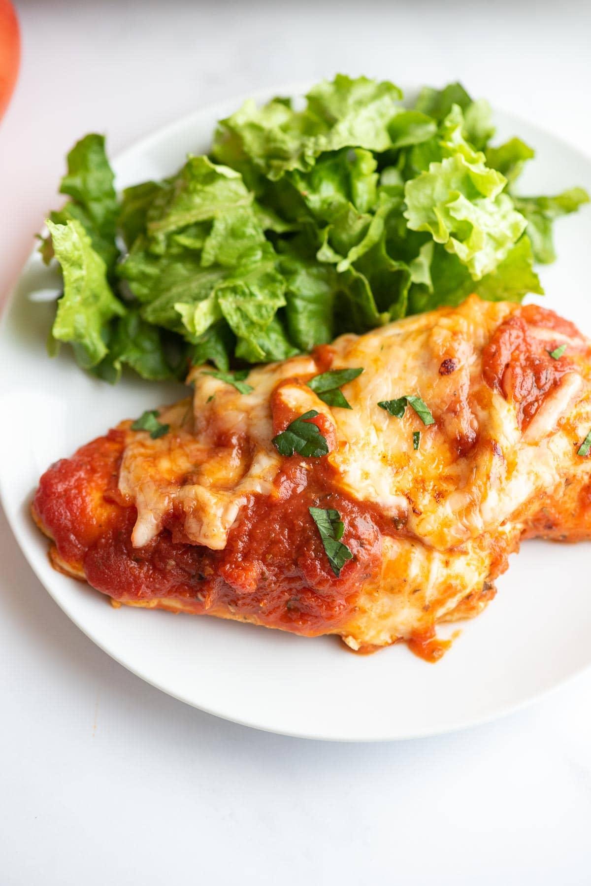 mozzarella chicken close up