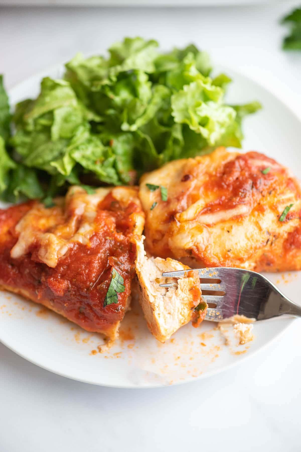 mozzarella chicken cut