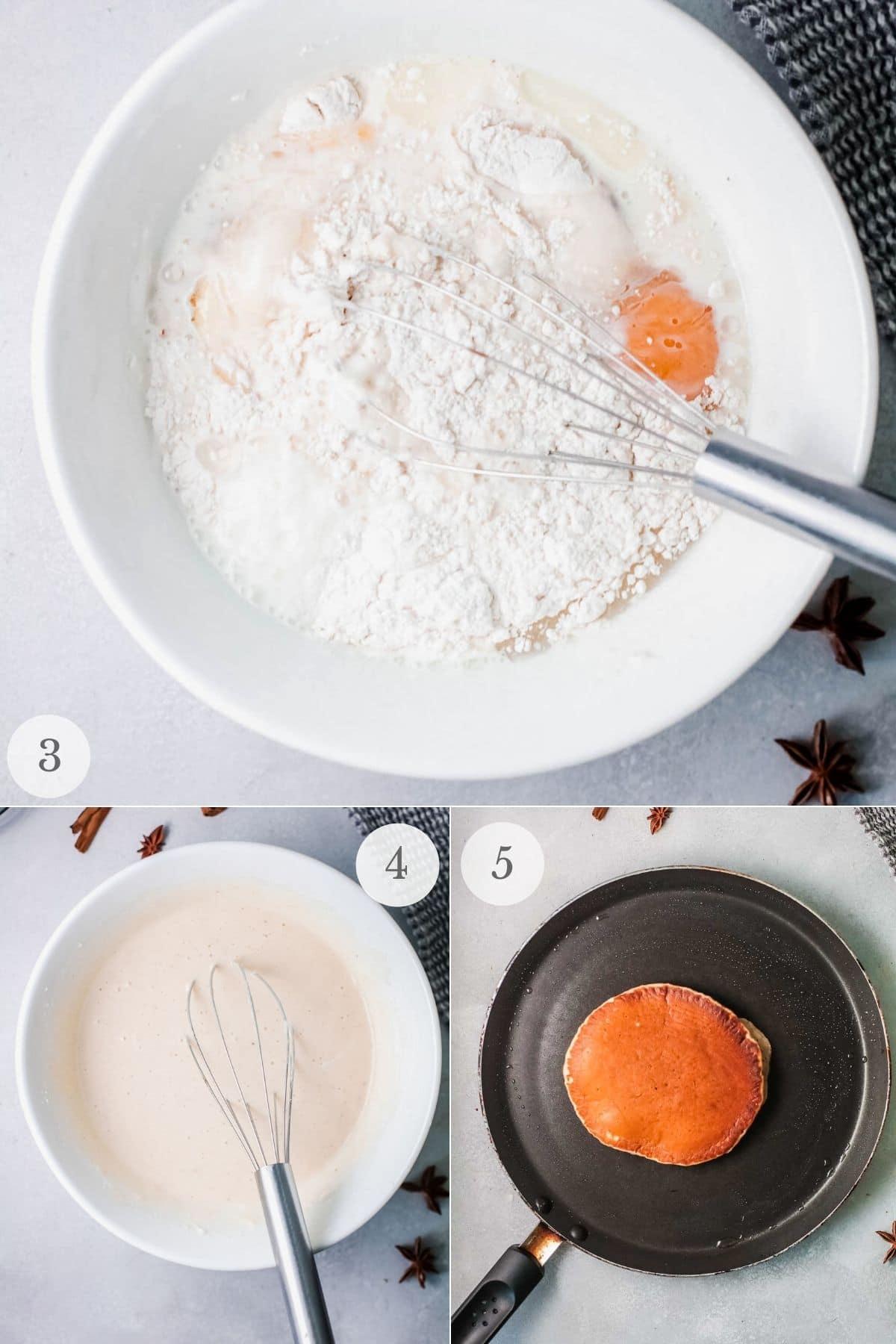cinnamon pancakes recipe steps 3-5