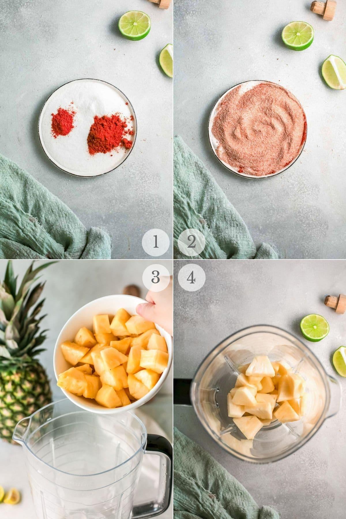 frozen pineapple margaritas recipes steps 1-4