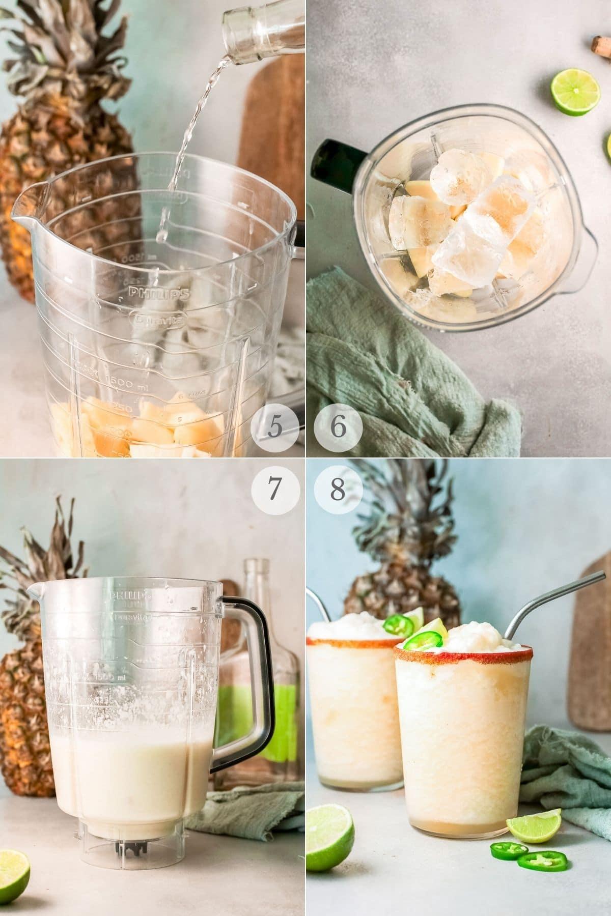 frozen pineapple margaritas recipes steps 5-8