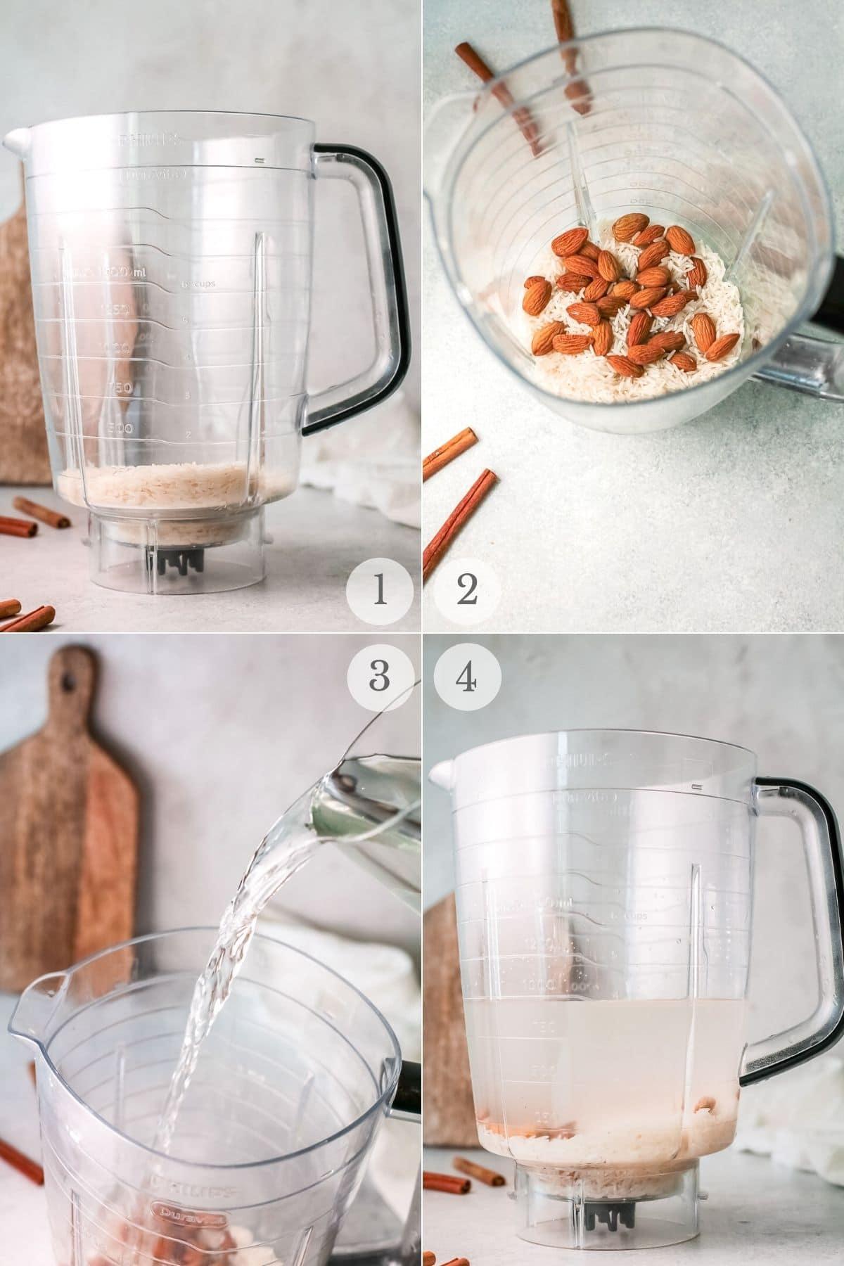 horchata recipe steps 1-4