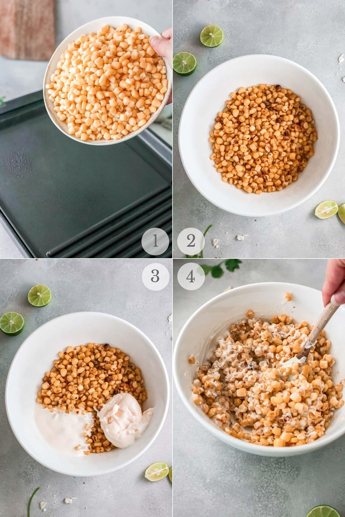 mexican corn dip recipe steps 1-4