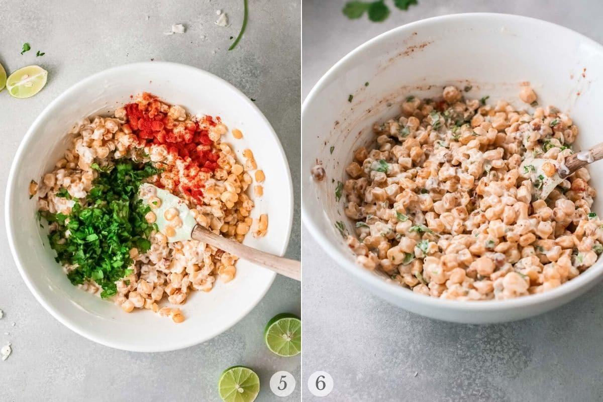 mexican corn dip recipe steps 5-6