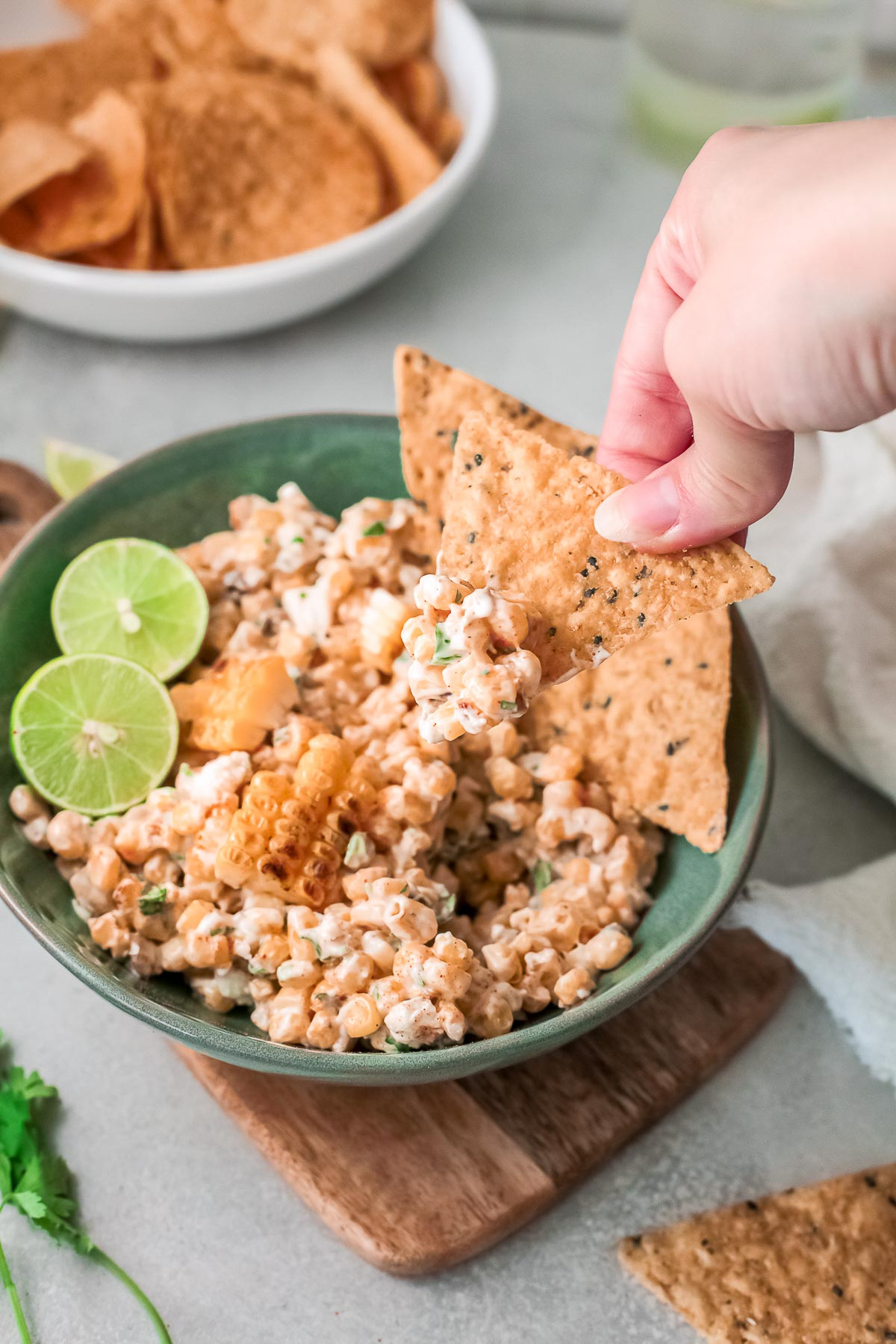 mexican corn dip with chips