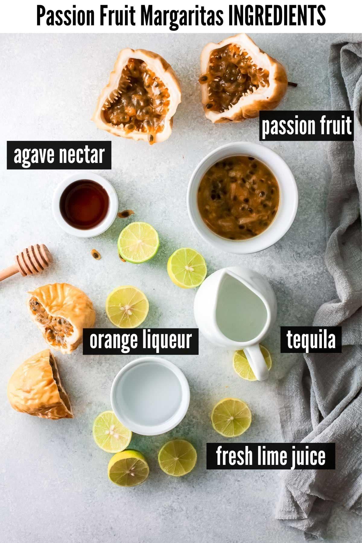 passion fruit margaritas ingredients