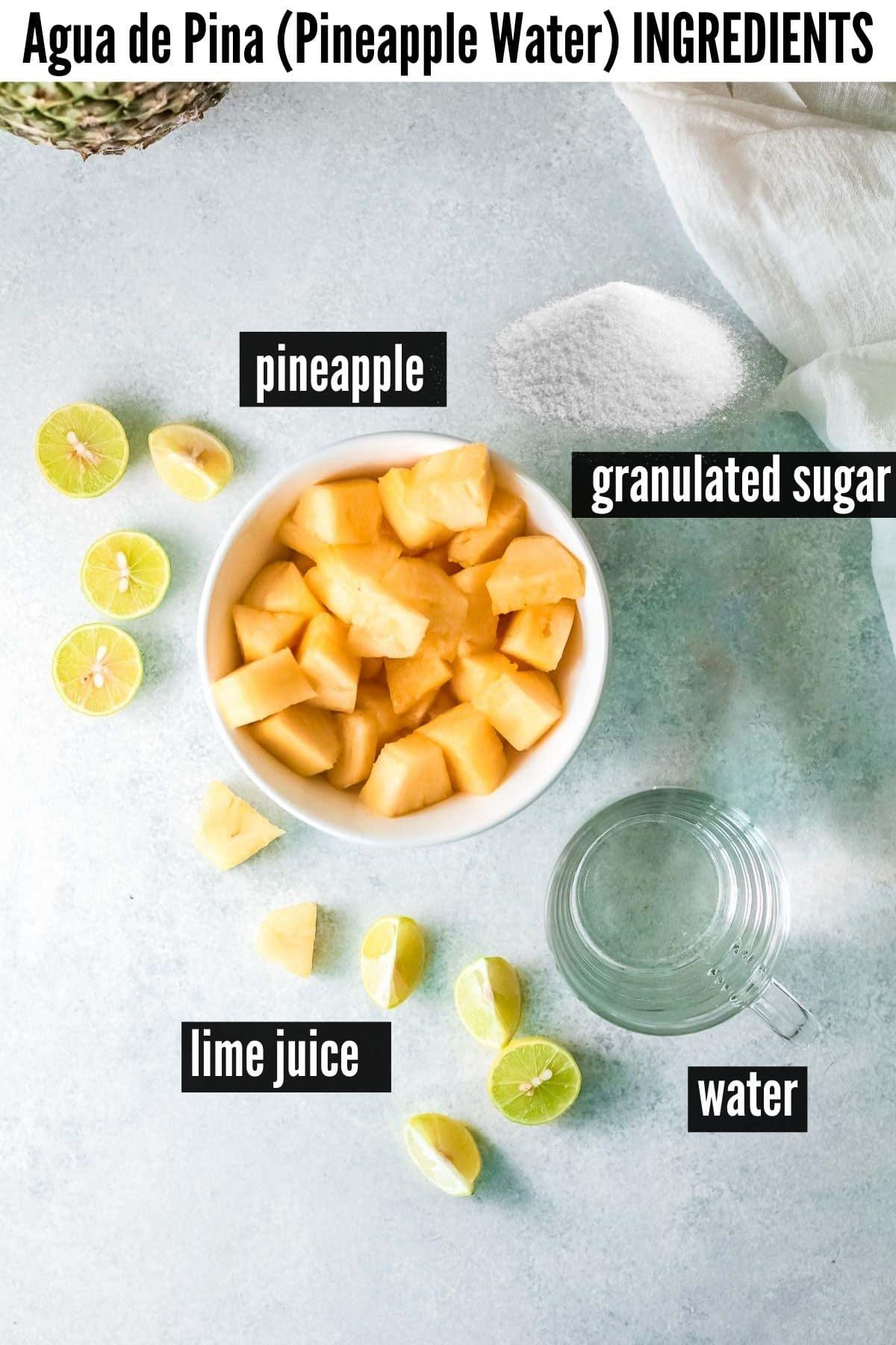 pineapple water ingredients