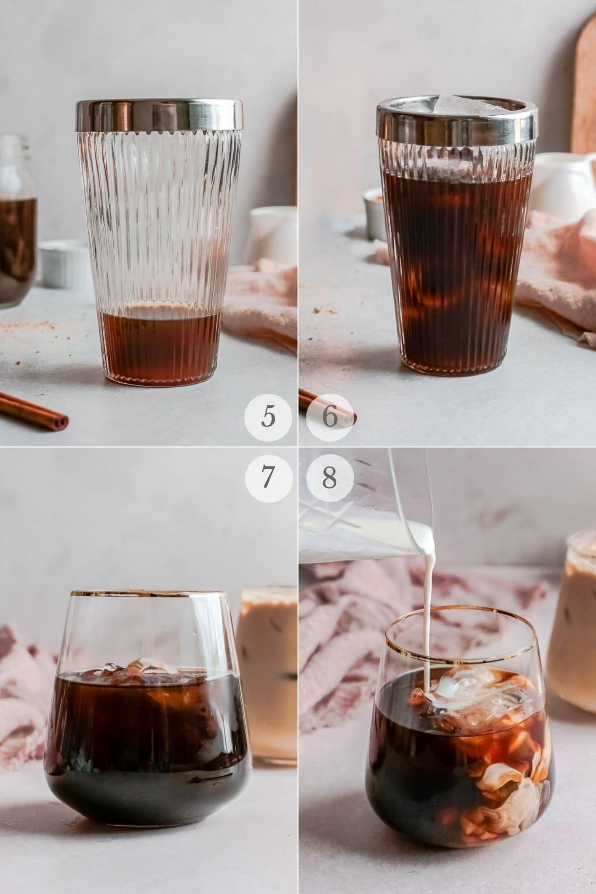 shaken espresso recipe steps 5-8