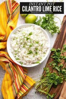 cilantro lime rice title image