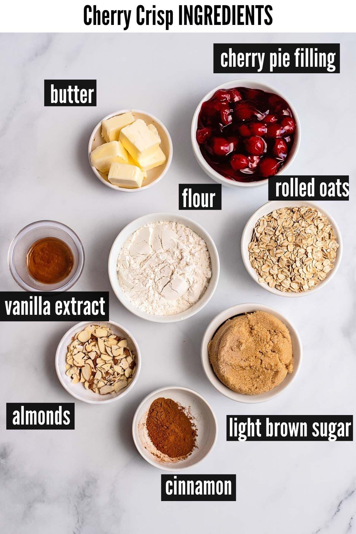 cherry crisp ingredients