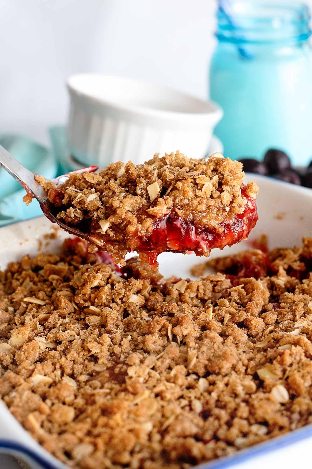 cherry crisp scoop