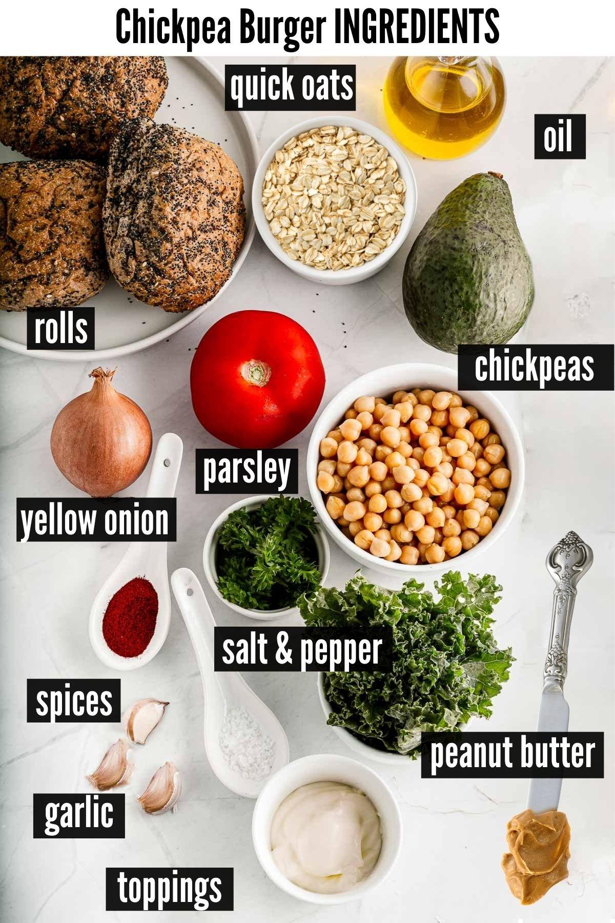 cihckpea burger ingredients