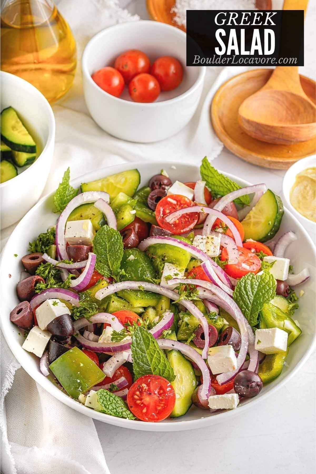 greek salad title image