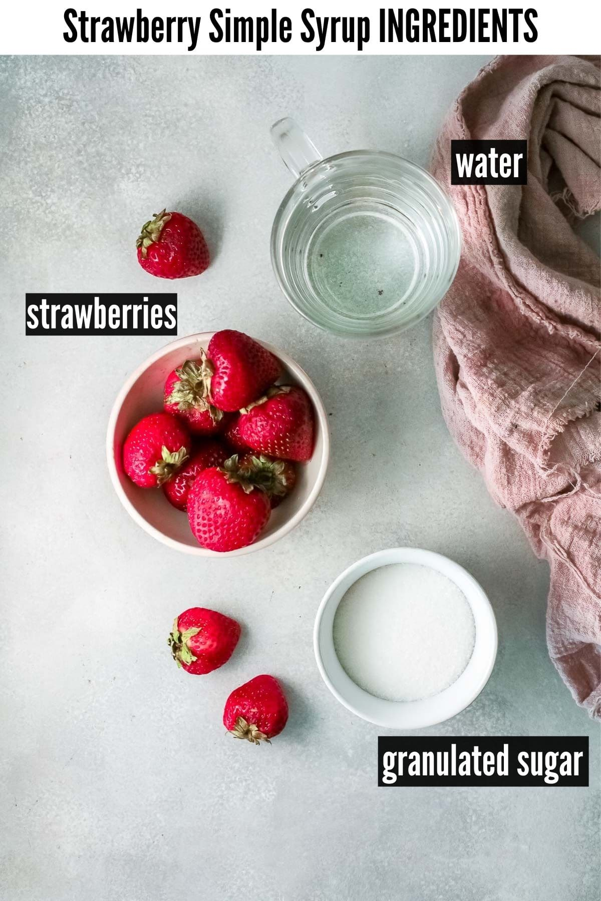 strawberry simple syrup invoice