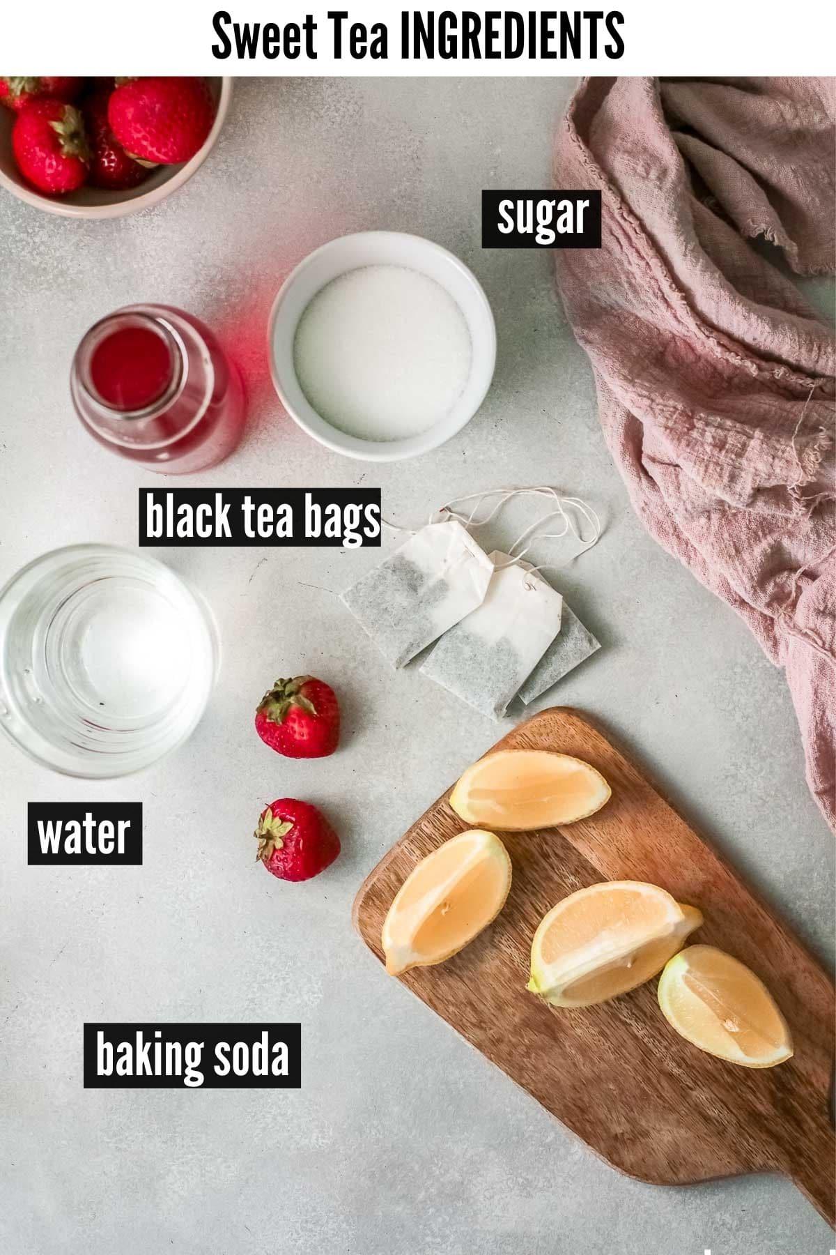sweet tea ingredients