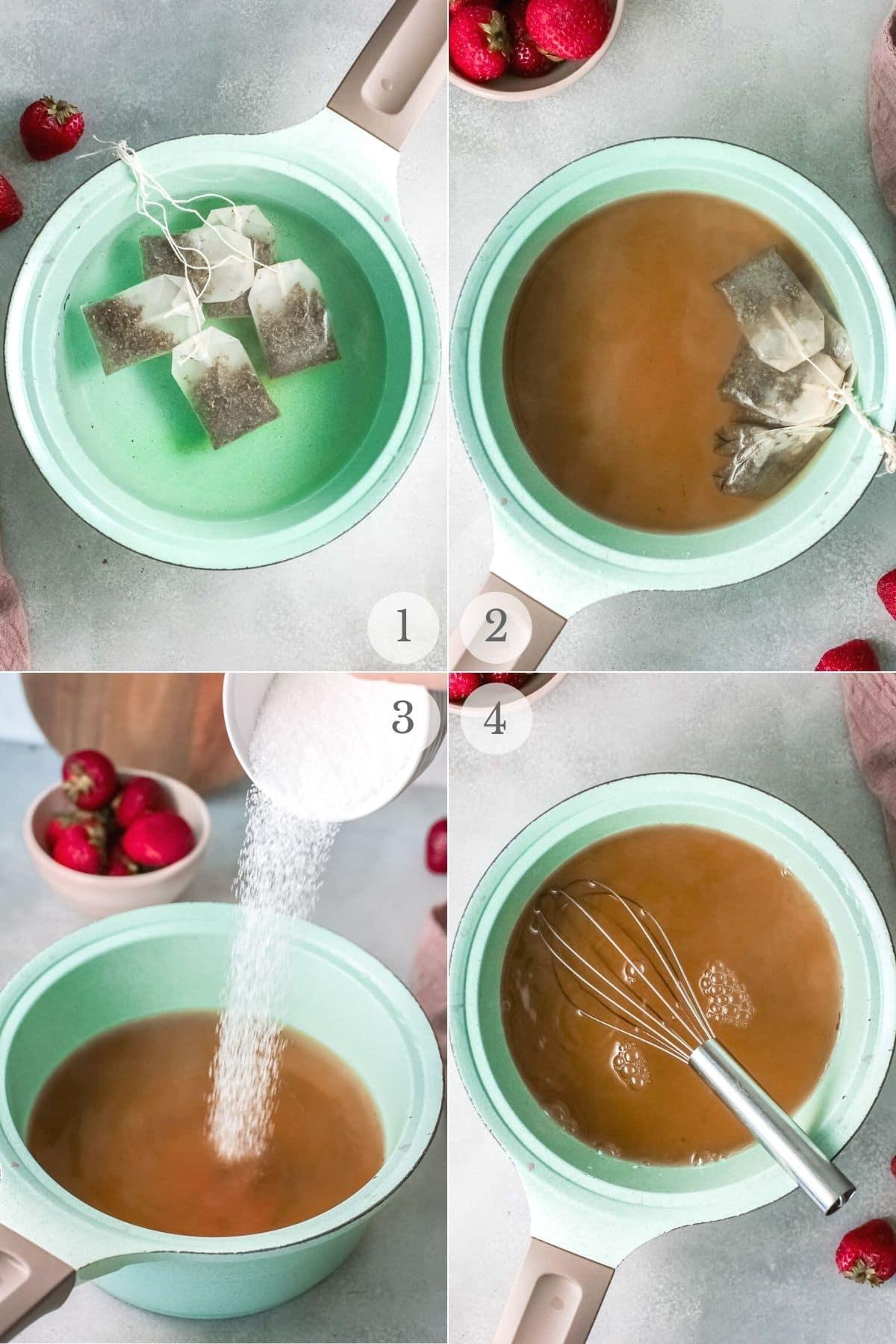 sweet tea recipe steps 1-4