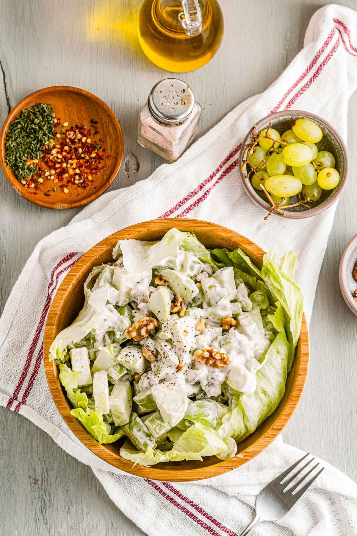 waldorf salad overhead