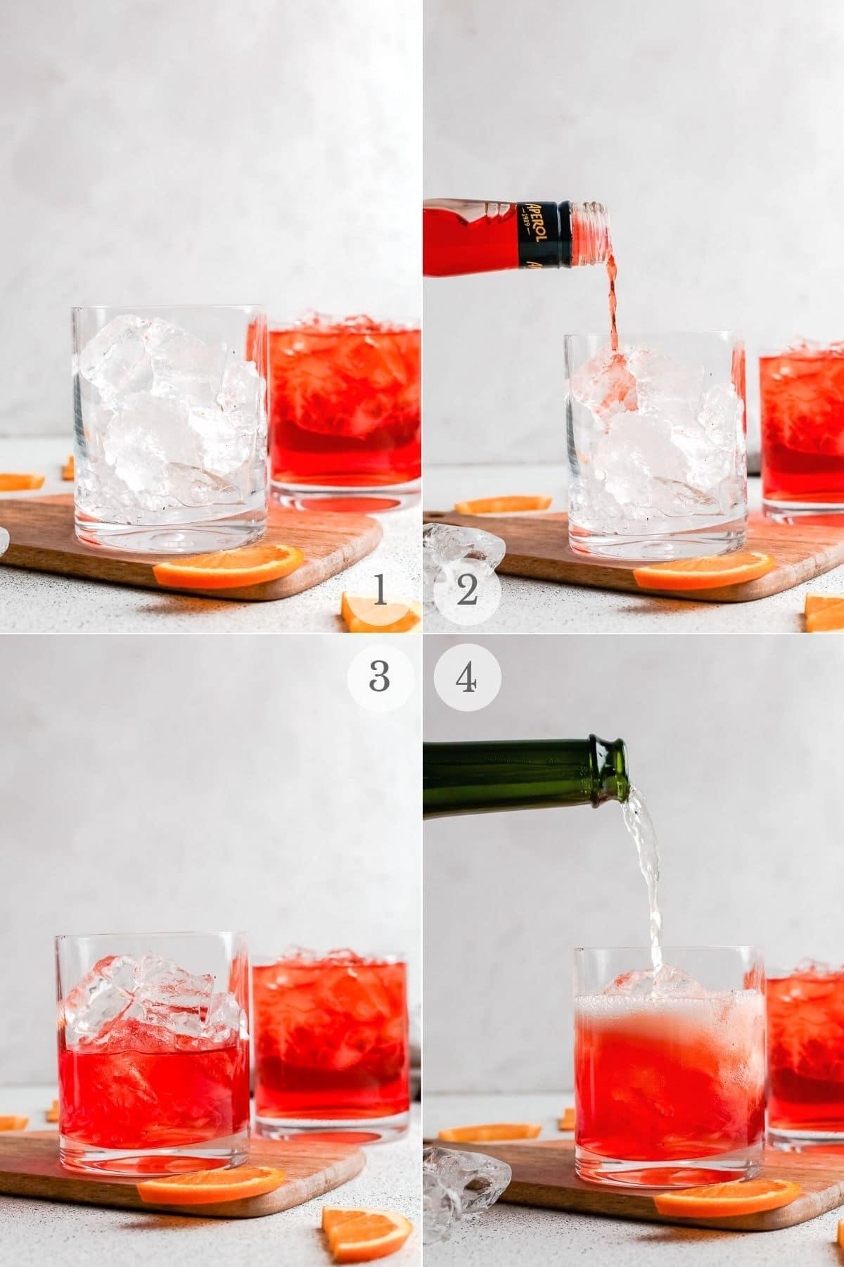 aperol spritz recipe steps 1-4