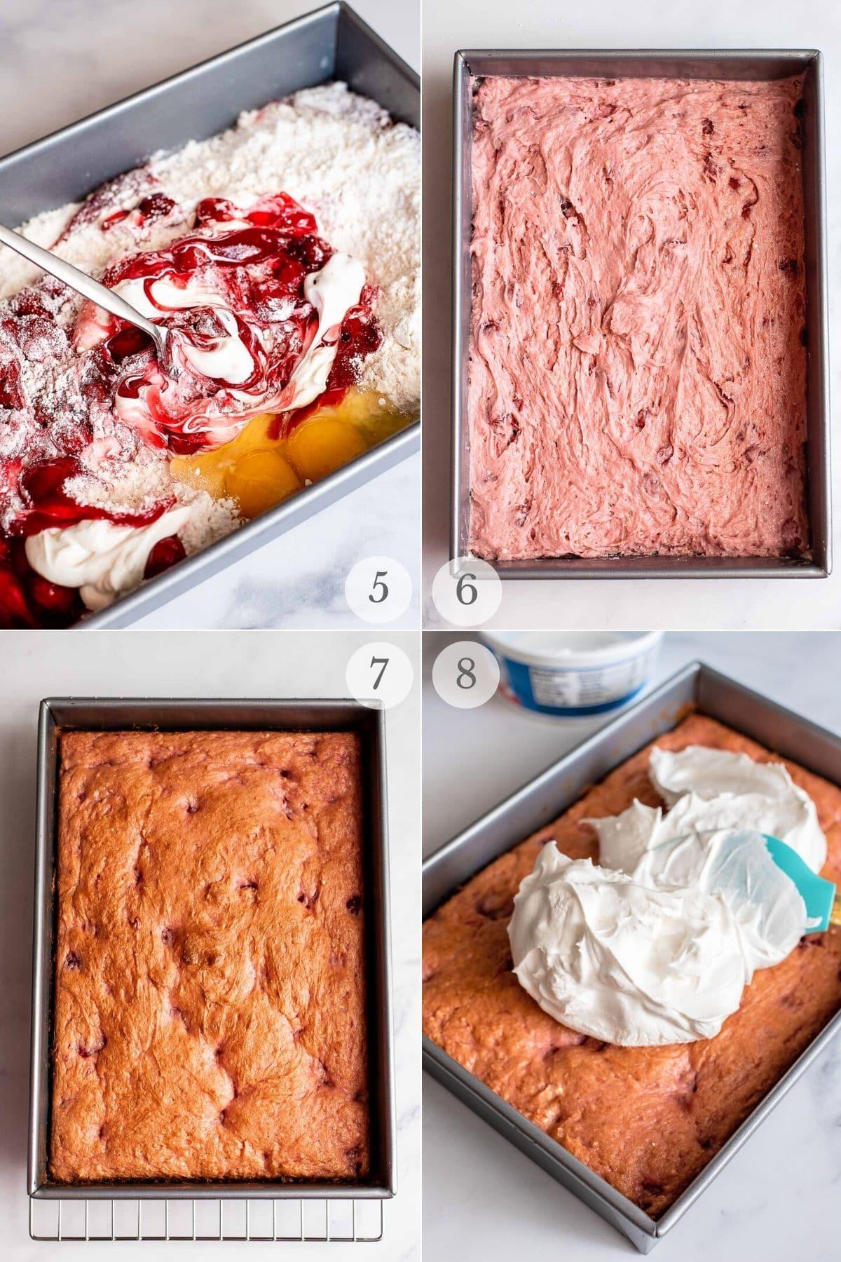 cherry cake recipe steps 5-8