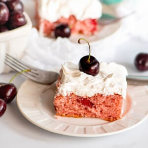 cherry cake slice square image