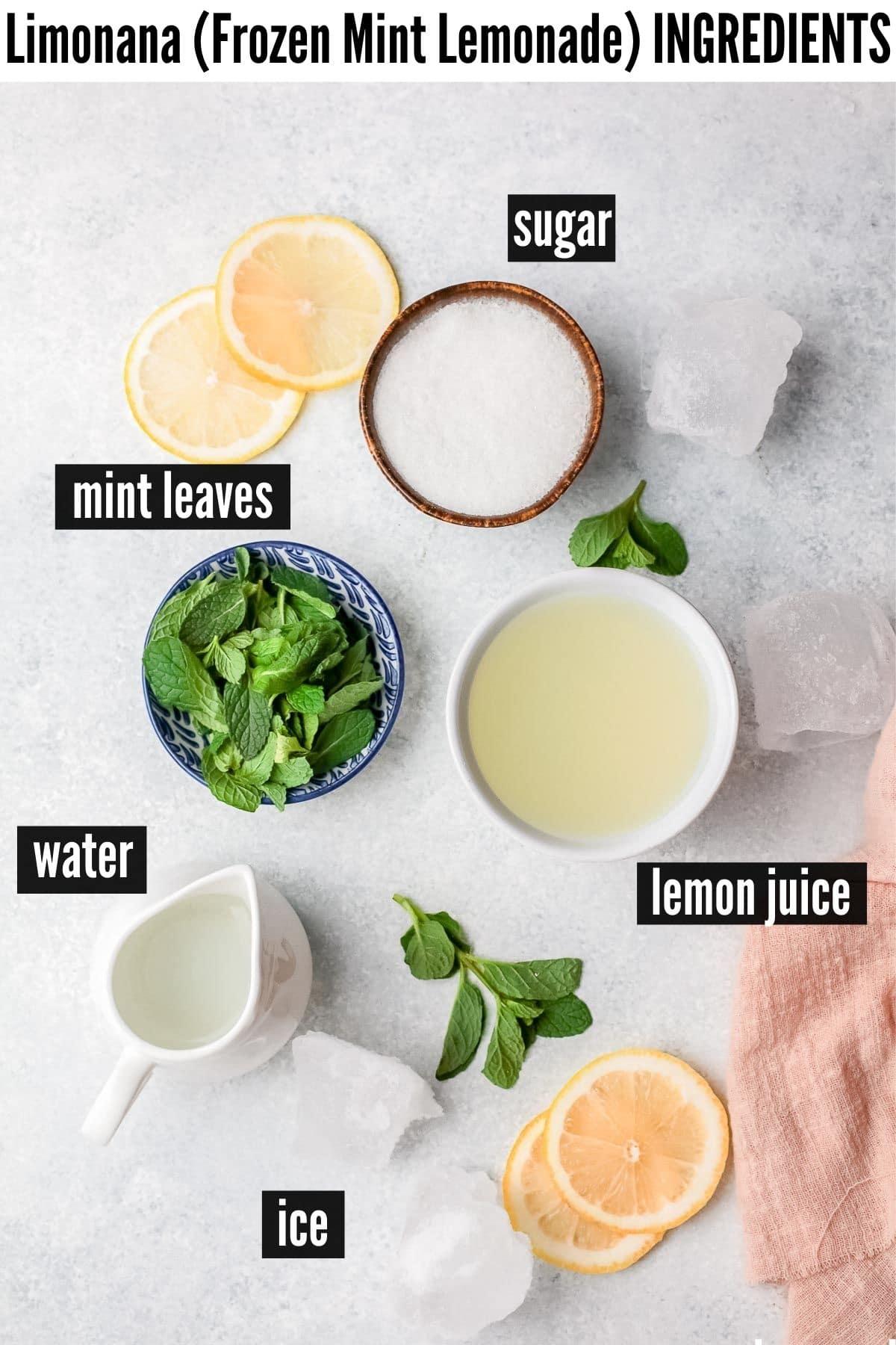 limonana ingredients