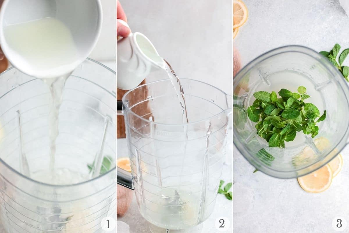 limonana recipe steps 1-3