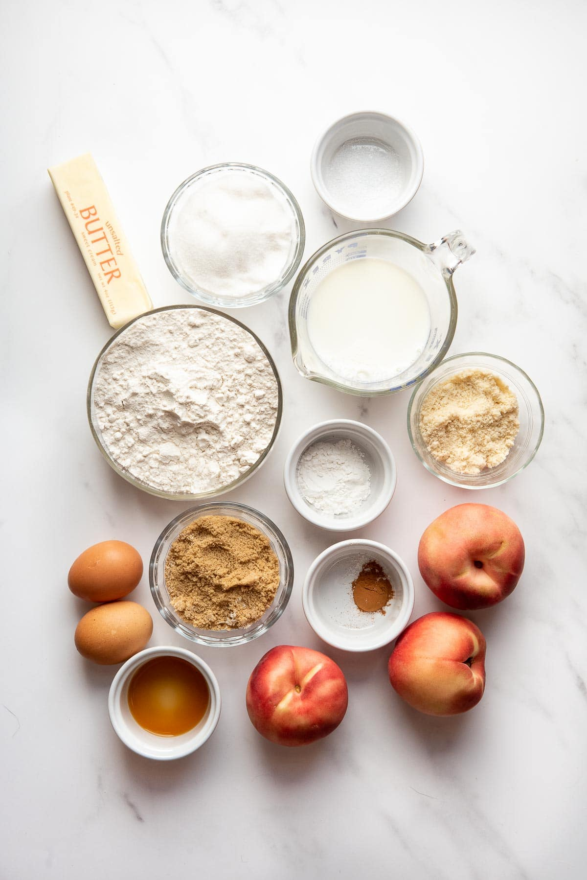 peach upside down cake ingredients