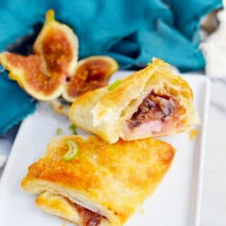 fig and onion puff pastry appetizer title image