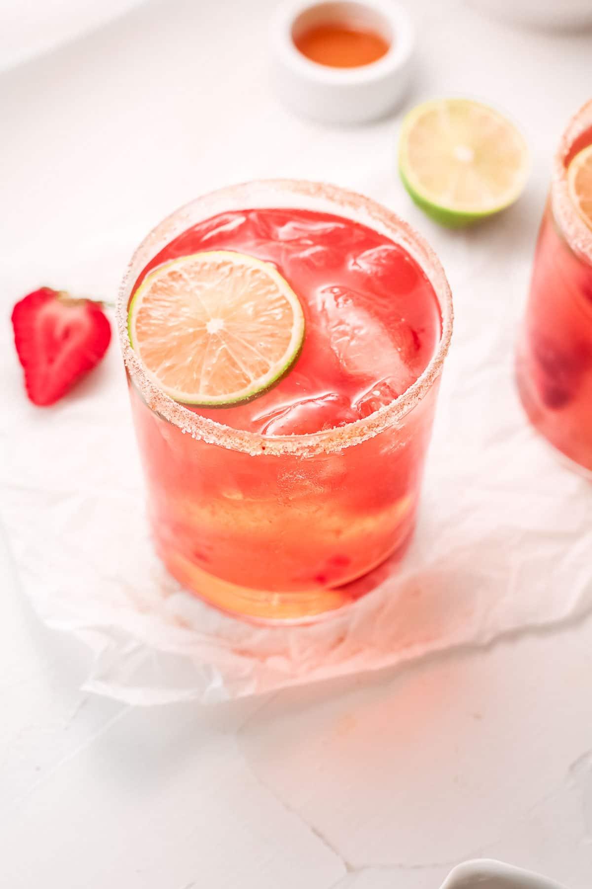 strawberry margarita above