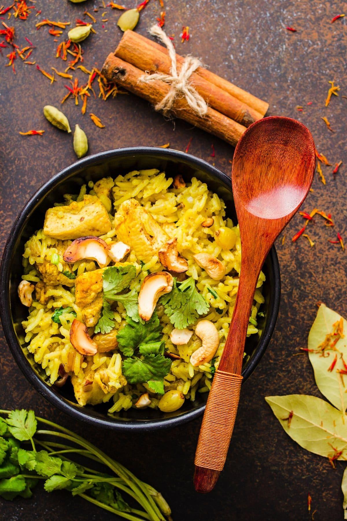 turmeric coconut rice bowl