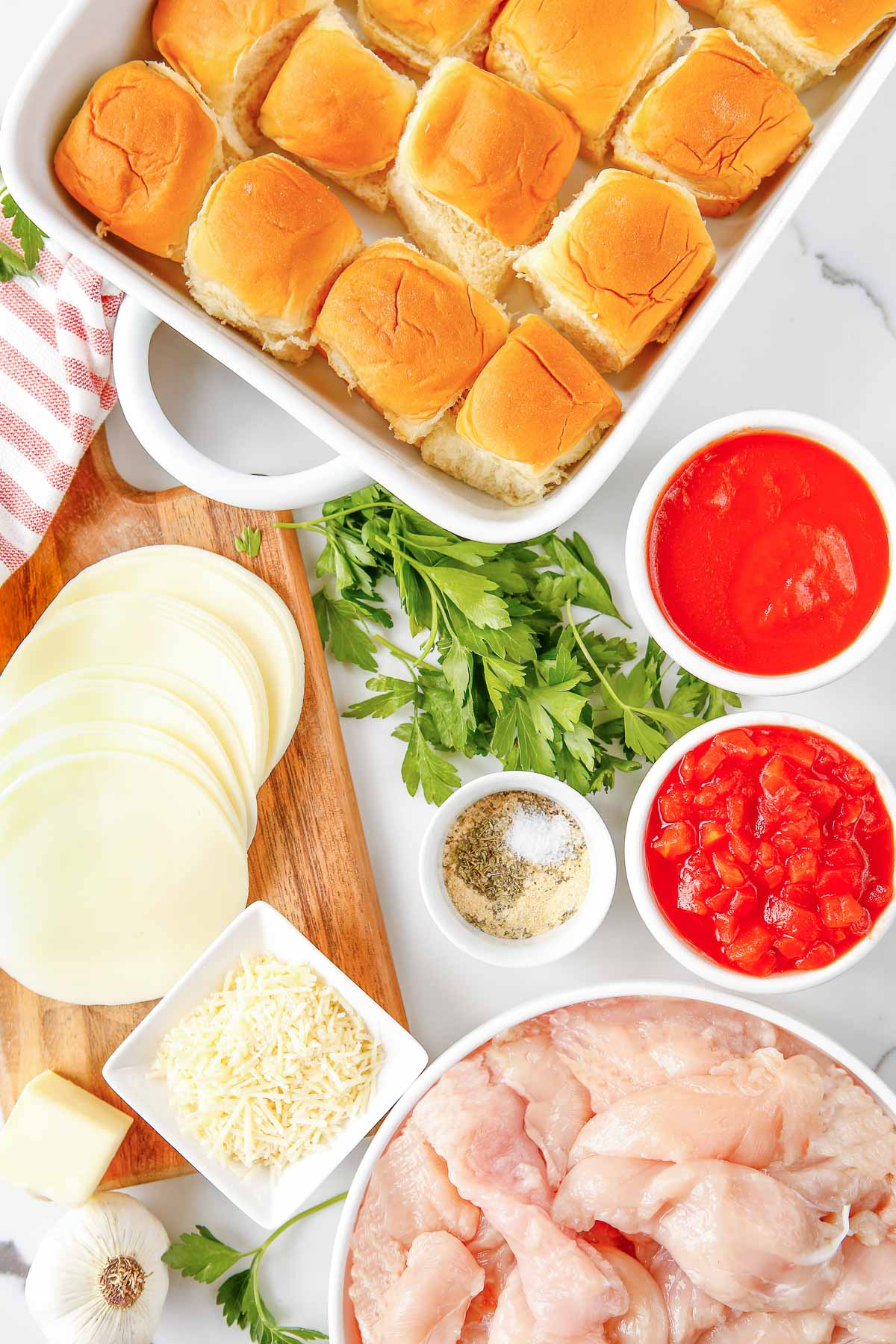 chicken parmesan sliders ingredients