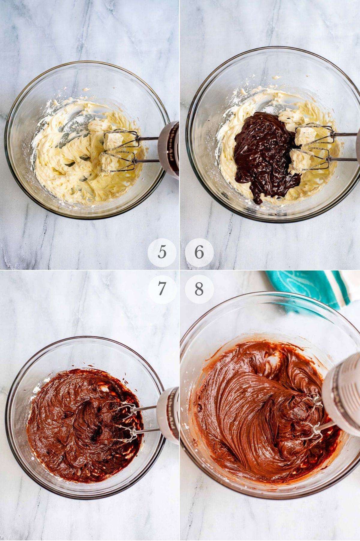 chocolate cream cheese frosting recipe steps 5-8