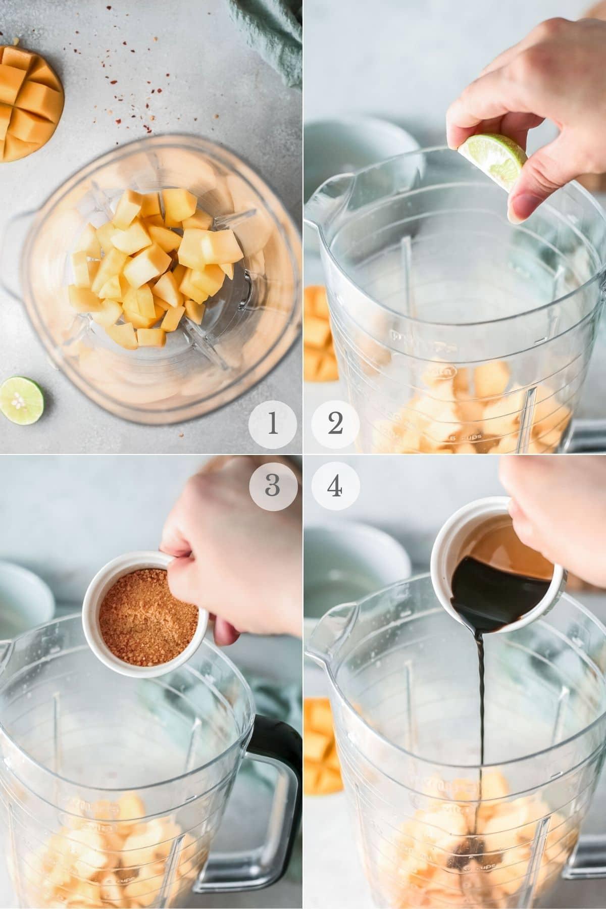 mango chicken recipe steps 1-4