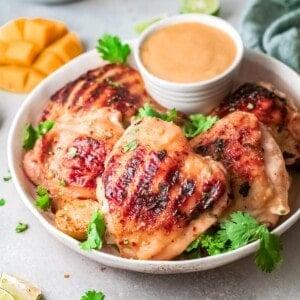 mango chicken square