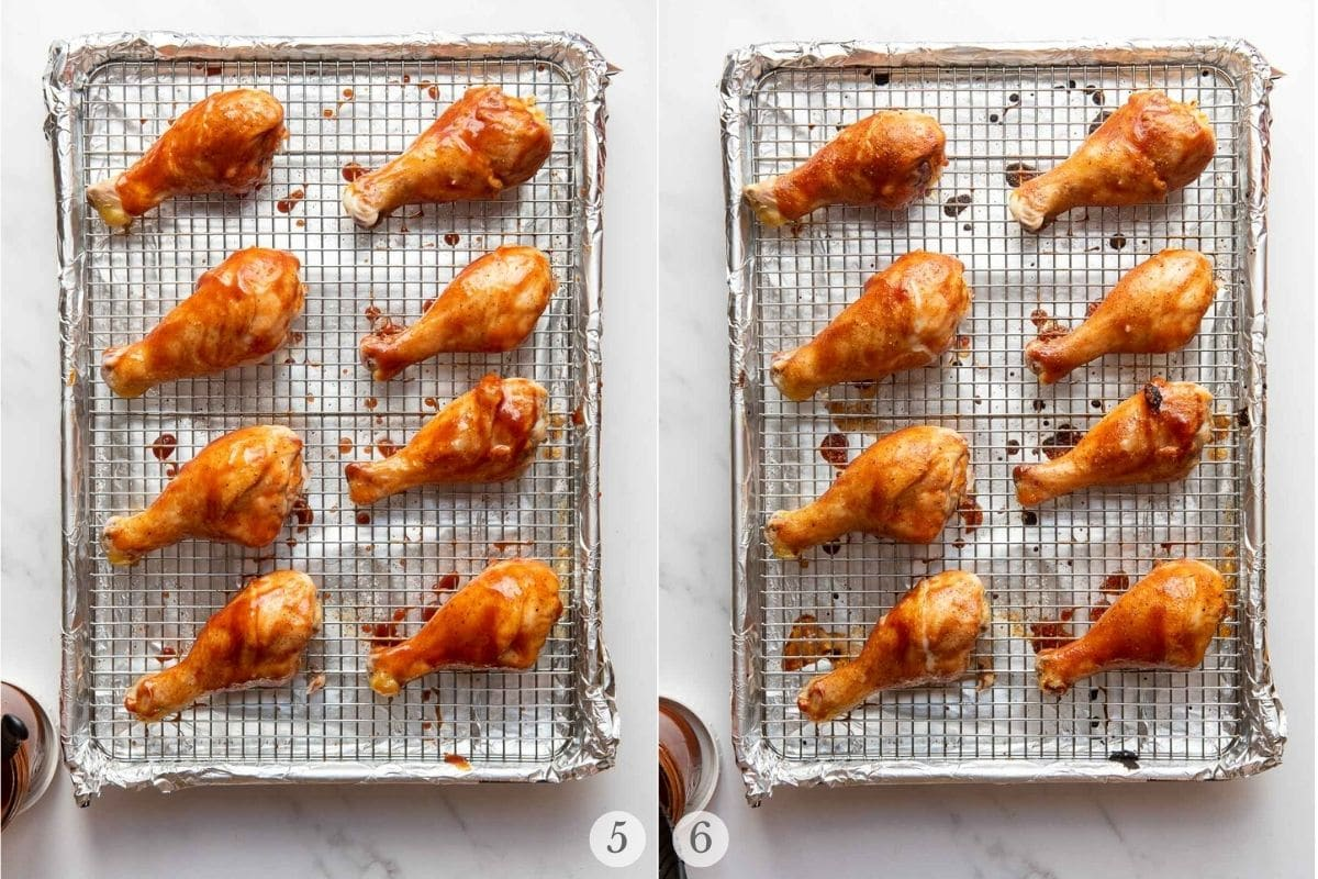 oven bbq chicken steps 5-6