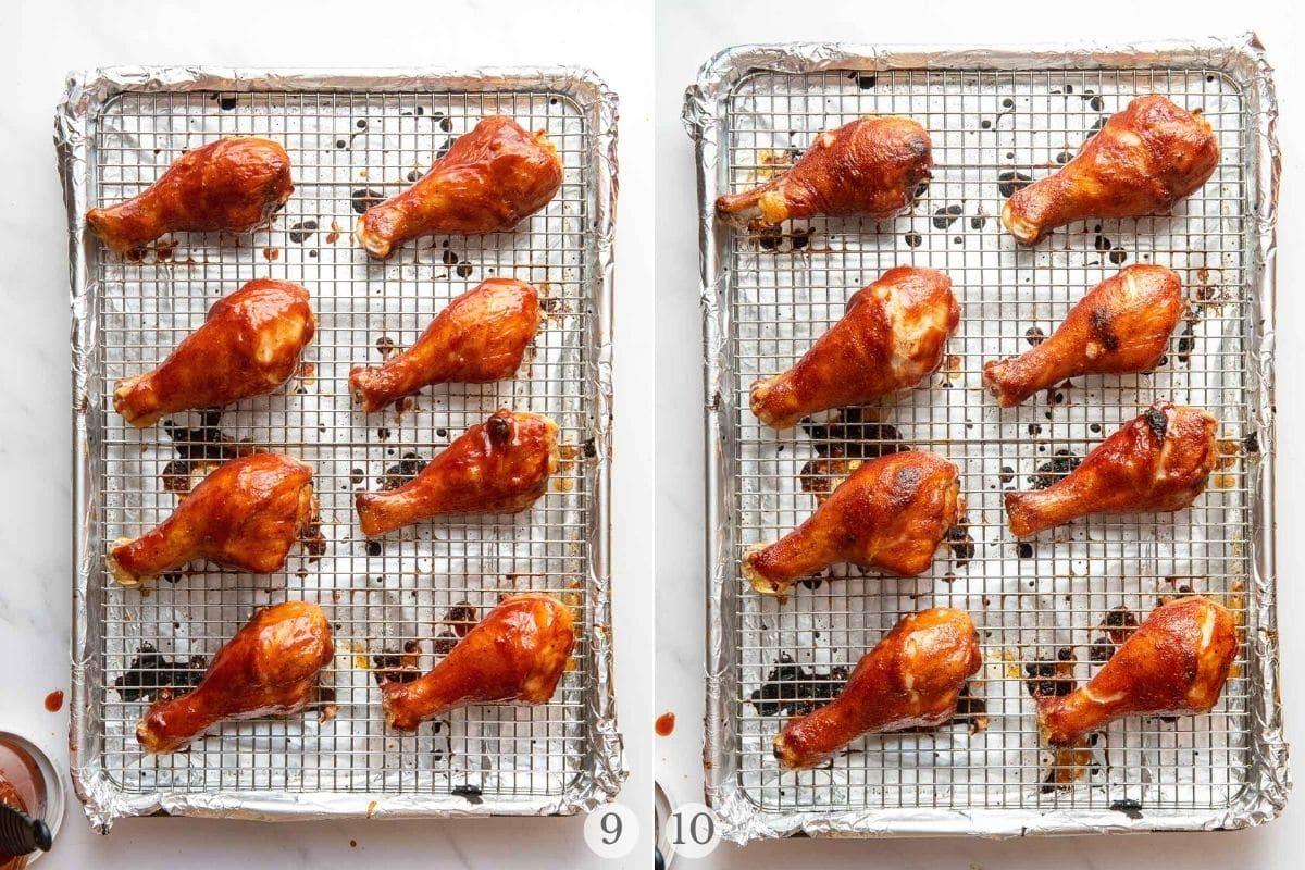 oven bbq chicken steps 9-10