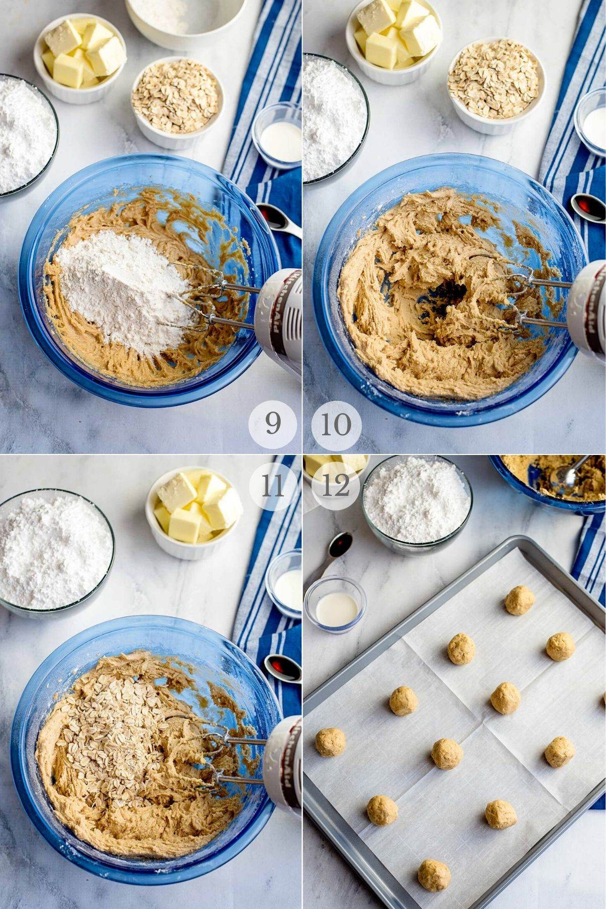 peanut butter oatmeal cookies recipes steps 9-12a