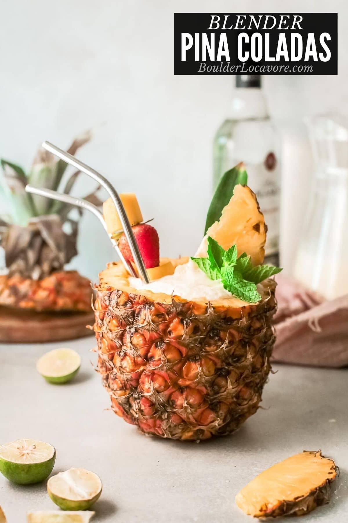 pina colada in pineapple title