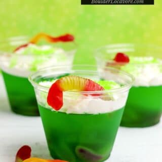 easy halloween treat jello cups title