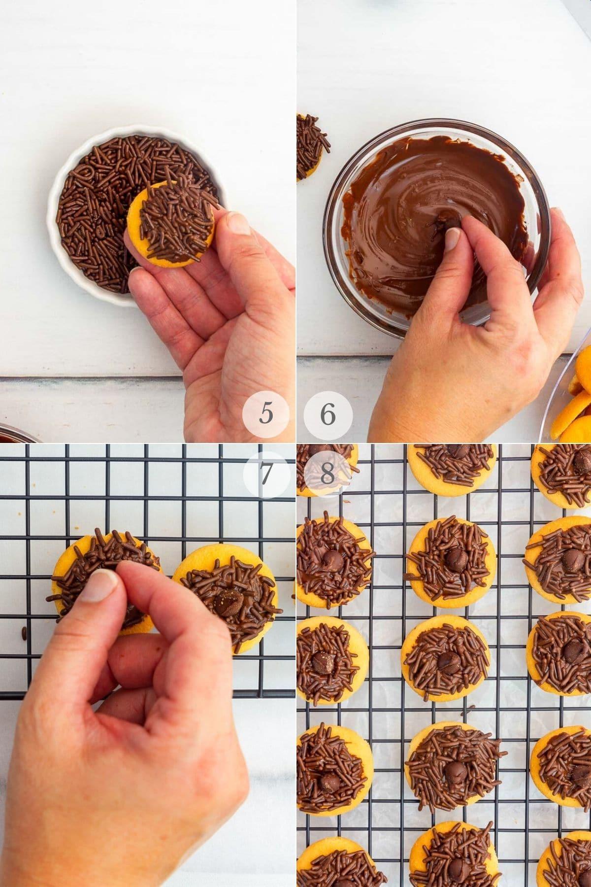 acorn brownie bites recipe steps 5-8