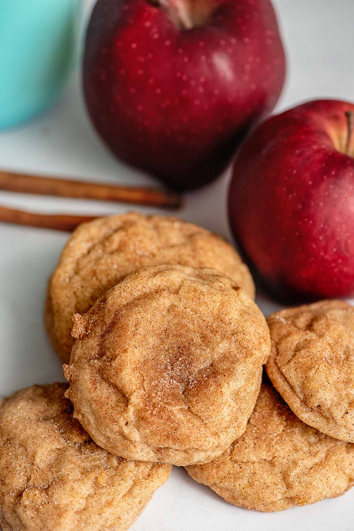 apple cookies close up
